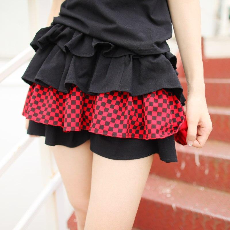 Dolly Delly Harajuku Black and White Striped/Checkered Mini Skirt ...