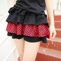 Dolly Delly Harajuku de Rayas Blanco y Negro/A Cuadros Mini Falda de la Muchacha Punky Falda para el Verano