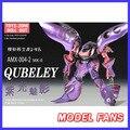 FÃS MODELO INSTOCK terminou gundam 1/144 Qubeley MKII presente toy purple led base de figura de ação