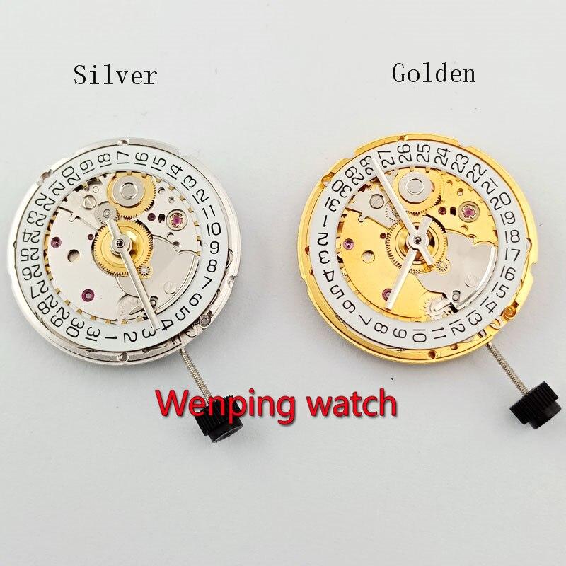 Złoty srebrny mewa ST2130 klona do 2824 2 2824 ruch automatyczne mechaniczne zegarek na rękę zegar ruch P911 w Narzędzia i zestawy do naprawy od Zegarki na  Grupa 1