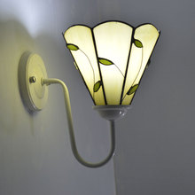 Tiffany Wall Lamp Country Stained Glass Sconce Mirror Bedroom Headboard Lighting Fixture E27 110-240V