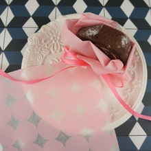 22*25cm 50pcs elegant pink dots design Bread Cake Cookies Food Wrapping Paper Christmas Packaging Butter chocolate soap pack use
