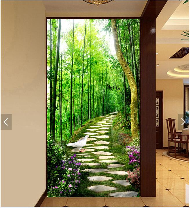Popular door wallpaper mural buy cheap door wallpaper for Door mural wallpaper