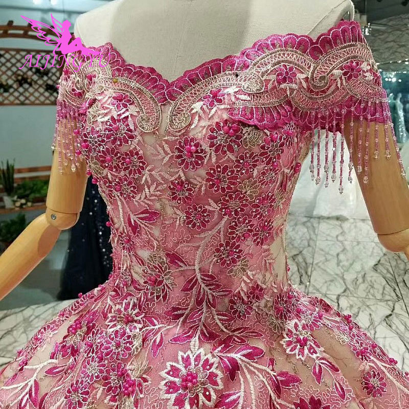 AIJINGYU Traditional Wedding Dresses Couture Gowns Lace Up China Muslim Wholesale Store Pearls Long Frocks Sheer Gown Simple