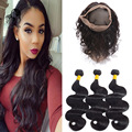 8A Rosa Hair 360 Lace Frontal With Bundles Brazilian Body Wave 3 Bundles With Lace Frontal Closure Remy 360 Frontal With Bundles