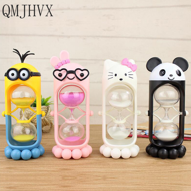 New Year Cartoon Colorful Hourglass Timer for Children Brush Teeth Hourglass Sand Clock Timer Home Decoration Christmas present
