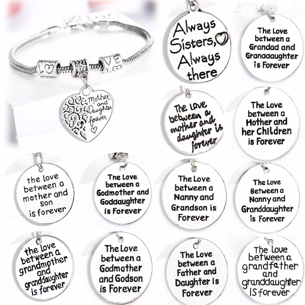 Detail Feedback Questions About Love Gifts For Family Mother Son Dauther Mom Father Dad Grandma Sister Birthday Presents Bracelet Women Men Jewelry