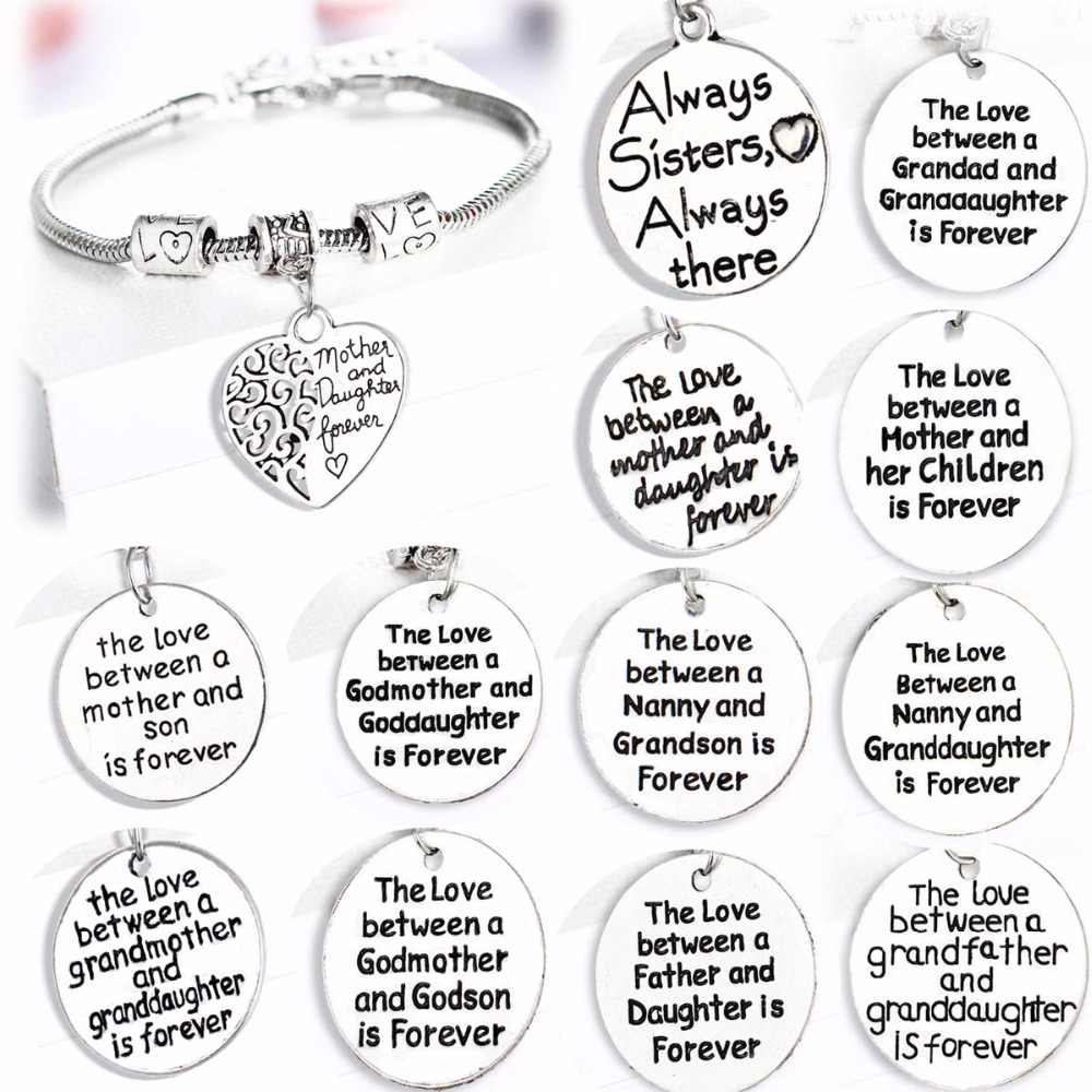 Love Gifts For Family Mother Son Dauther Mom Father Dad Grandma Sister Birthday Presents Bracelet