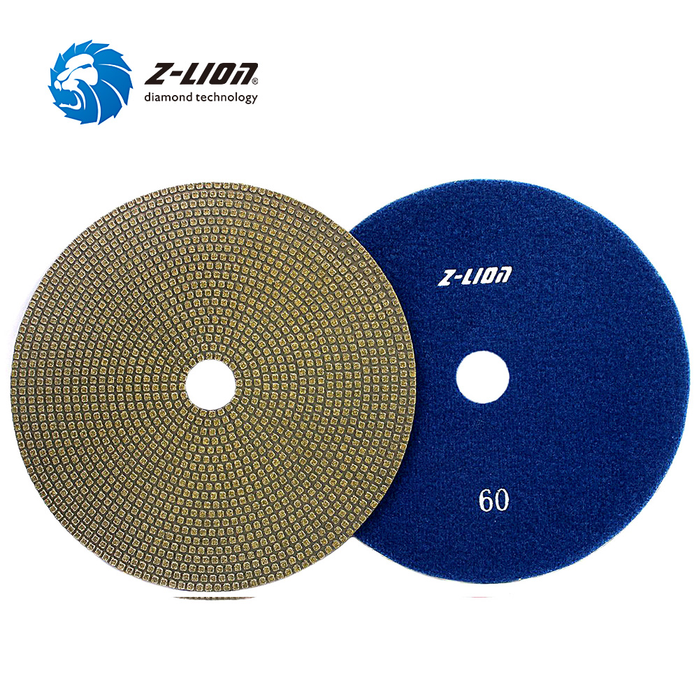 "Z LION 6"" Diamond Polishing Pad Electorplated Diamond Sanding Disc 150mm Diameter Abrasives Tool Glass Metal Stone Grinding-in Polishing Pads from Tools"