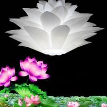 Подвесные Светильники Творческий оригами лотос DIY современные Подвесные Светильники головоломки новая спальня лампа free доставка Дать LED лампочки