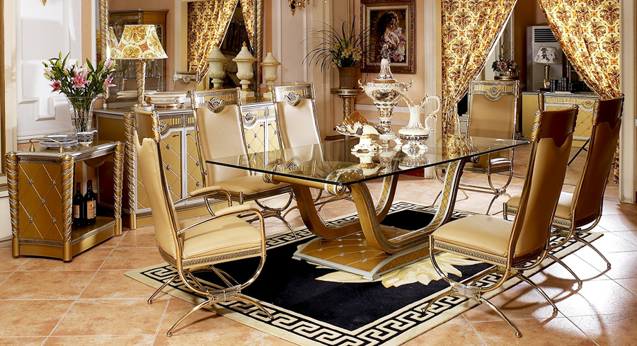 High Quality Import Glass Table Top Luxury New Classical