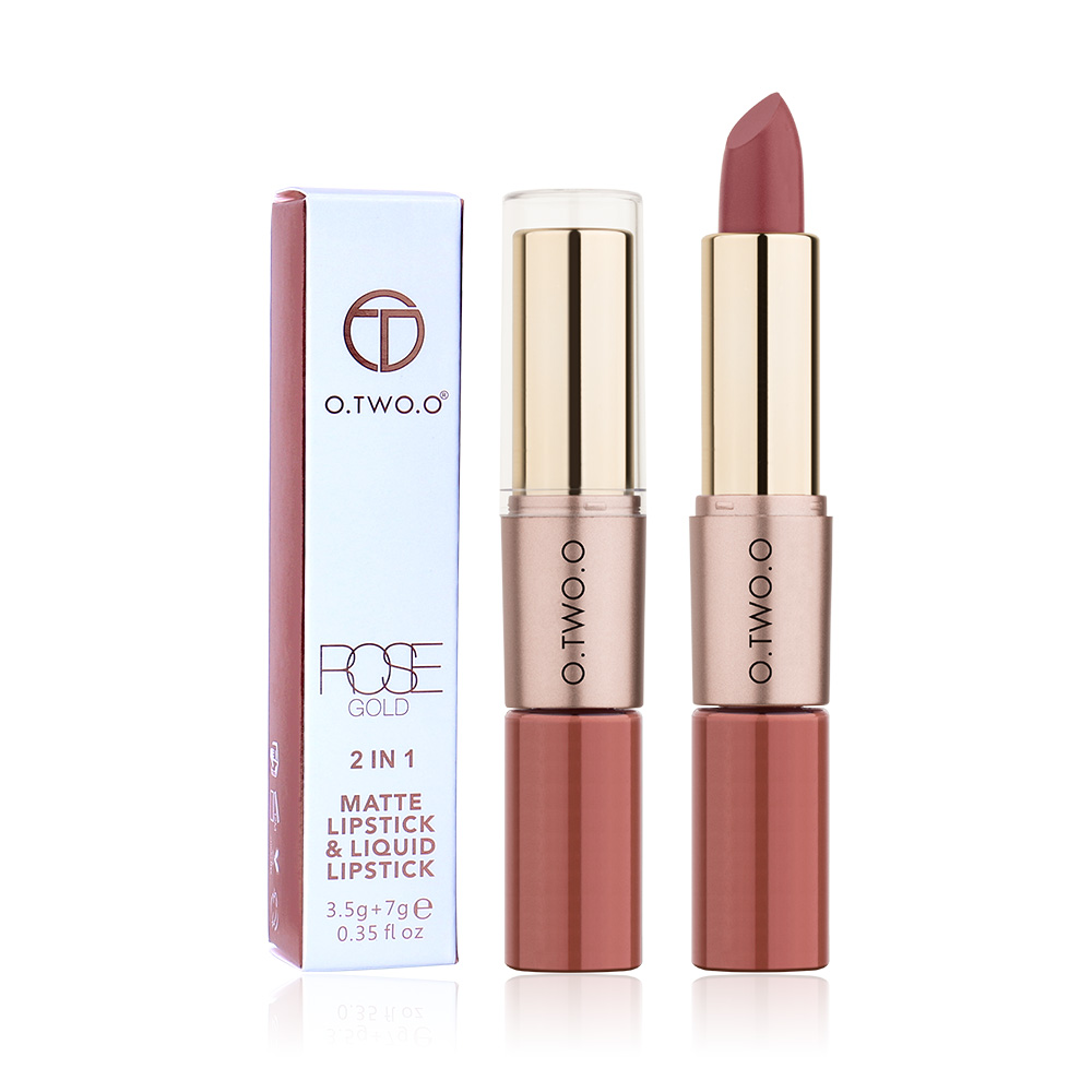 O TWO O 12 Colors Lips Makeup Lipstick Lip Gloss Long Lasting Moisture Cosmetic Lipstick Red