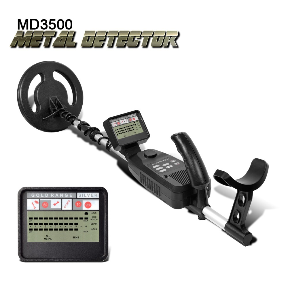 Underground Metal Detector MD-3500 MD3500 Treasure Hunting Detector Metal Search Gold Silver Detector Stud Finder Metaaldetector fast shipping underground metal detector for gold coins md 3500 md3500