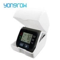 Yongrow Medical Digital Wrist Blood Pressure Monitor Heart Rate Pulse Meter Measure Sphygmomanometer PR