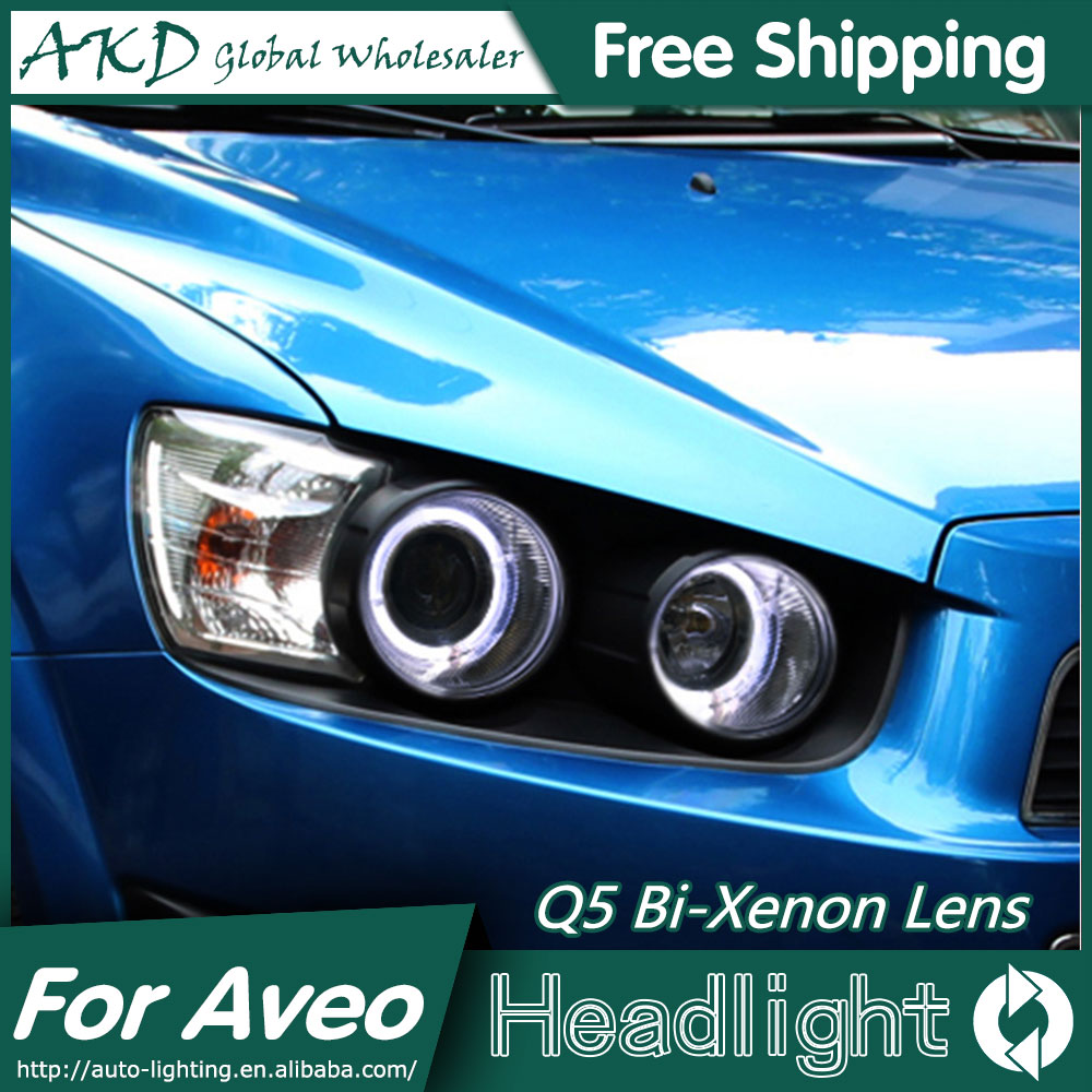 AKD Car Styling for Chevrolet Sonic Headlights 2011-2014 Aveo LED Headlight LED DRL Bi Xenon Lens High Low Beam Parking hireno car styling for toyo ta corolla 2011 13 headlights led super bright headlight drl xenon lens high fog lam