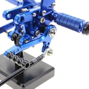 Image 5 - FXCNC Adjustable Rear Sets Rearset Footrest Foot Rest Pegs For SUZUKI SV650 SV650S SV1000S SV 650 SV 1000 1998 2014 1999 2000