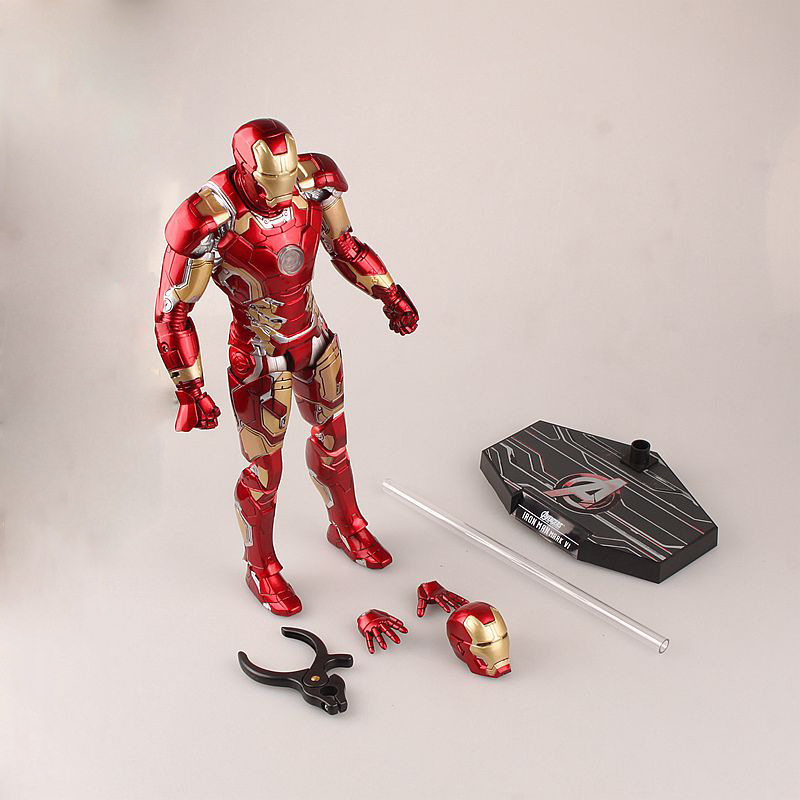 Hot Toys Avengers Age of Ultron Iron Man Mark MK 43 with LED Light PVC Action Figure Collectible Model Toy Ironman portable 5 level abs stand holder for ipad 2 ipod touch 4 iphone 3g 4 purple