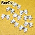 BlueZoo 10 unidades/pacote Branco Liga Bow Tie 3D Nail Art Strass decoração Para DIY Prego Parafuso Prisioneiro DIY Beleza Dicas de Design de Unhas acessórios