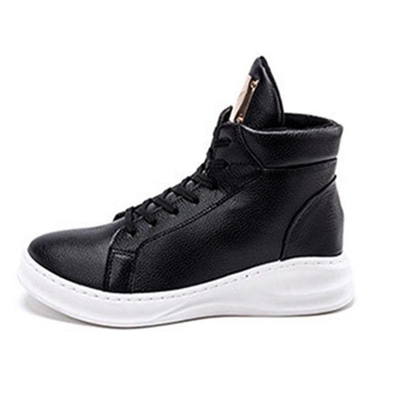 Prix pour Hommes et femmes planche à roulettes chaussures new High Top Hauteur Croissante Véritable sneakers En Cuir livraison gratuite