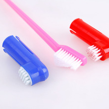 3pcs/set Double Head Soft Pet Finger Toothbrush Dog Cat Puppy Teeth Care Cleaning Brush Pets Grooming Tools Supplies