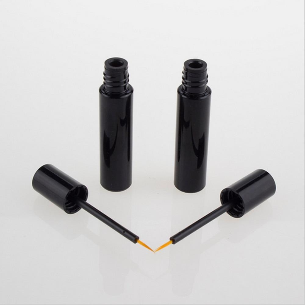 10 վրկ 10 մլ դատարկ սև eyeliner կոնտեյներով շշով խողովակ խոզանակով, կազմեք դատարկ հեղուկ eyeliner շիշը կիրառիչով լիցքավորվող իրեր