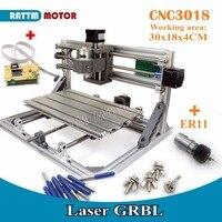 [EU Free VAT]3 Axis 3018 GRBL Control DIY CNC Machine Pcb Pvc Milling Machine Wood Router Laser Engraving+off line Controller