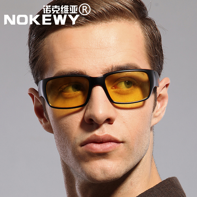 Chashma Men Yellow Lenses Eyewear Driving Glasses Night Version Goggles