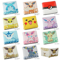 10pcs Pikachu Pokemon mix Anima Children wallet girl boy Fold purses bag 12X10cm