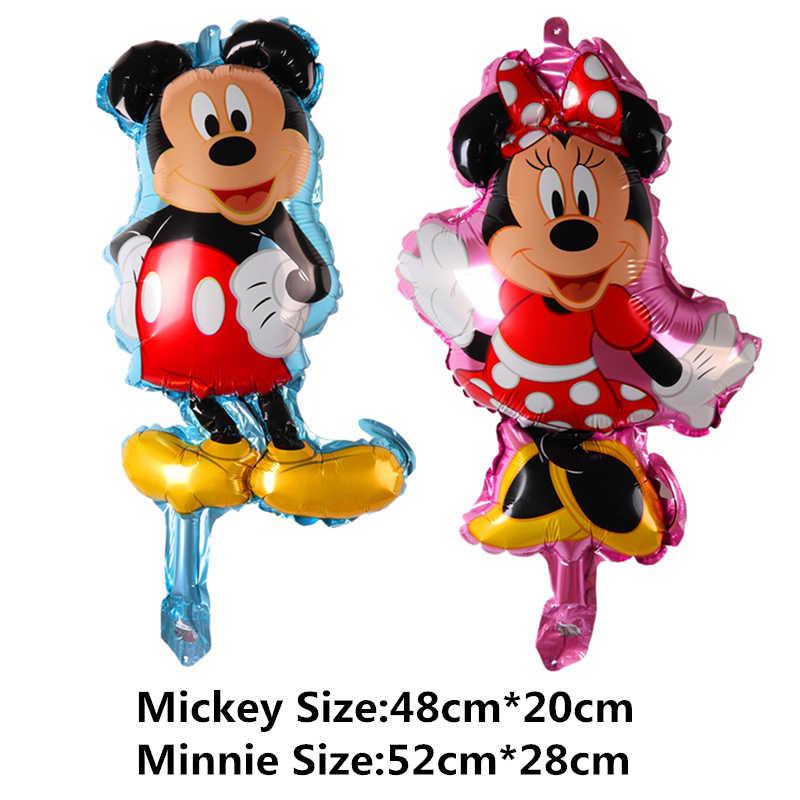 Mini unicórnio animal sereia minnie mickey bolo balões de amor crianças brinquedos decoração festa de aniversário balões