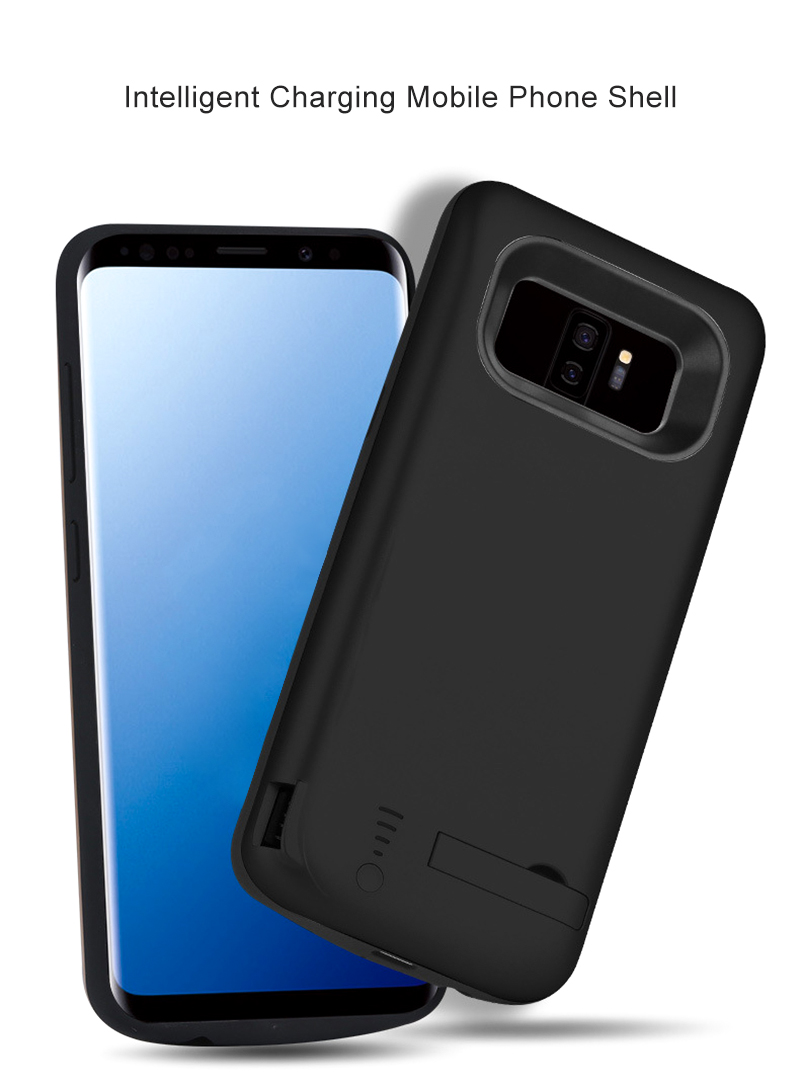 the latest 1fe20 4fdaf Portable Powerbank Back Cover Battery For Samsung Galaxy S9 S9 Plus Charger  Case External Backup Power Bank Case