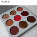 Flossy 9 cores paleta de sombra matte shimmer eye shadow palette naked borgonha cor para o verão