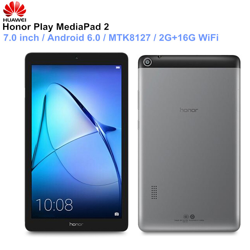 HUAWEI Honor Play MediaPad 2 tablettes 7.0 pouces Android 6.0 PC MTK8127 Quad Core Bluetooth 4.2 ordinateur portable 2 GB 16 GB WIFI