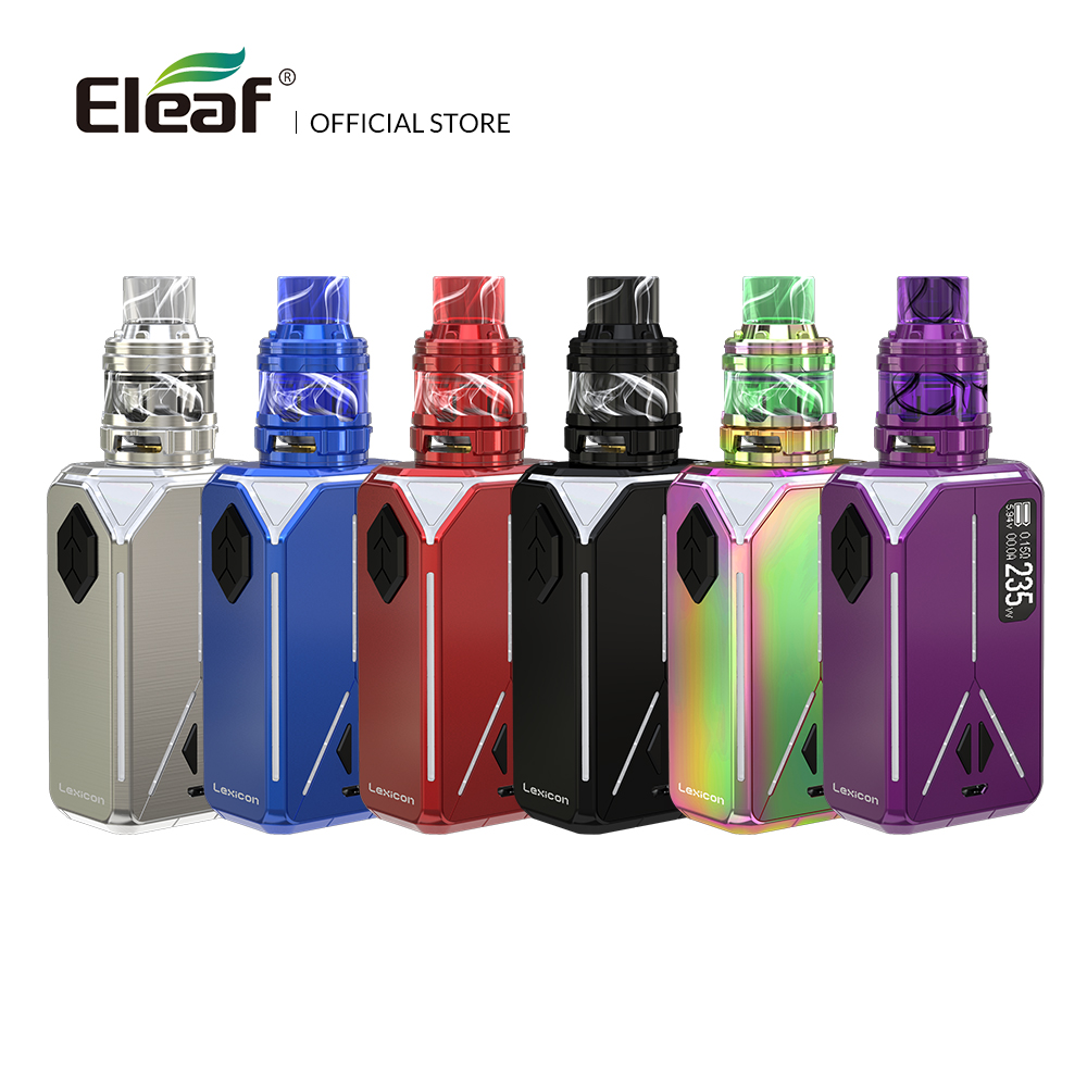 Original Eleaf Lexikon mit ELLO Duro kit 6,5 ml HW-M/HW-N Spule Box Mod Ausgang von 235 W Vape mod elektronische zigarette