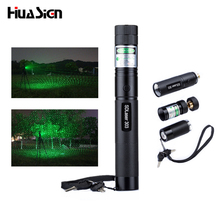 High Quality Promotion 303 Laser Pointer High Power Green Laser Pointer Pen Lazer Burning Match + Safe Key With No 18650 Battery(China)