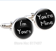 1 pair Wedding cufflinks,I'm yours,You're mine, I loved her first mens wedding day accessories,,wedding cuff links for mens
