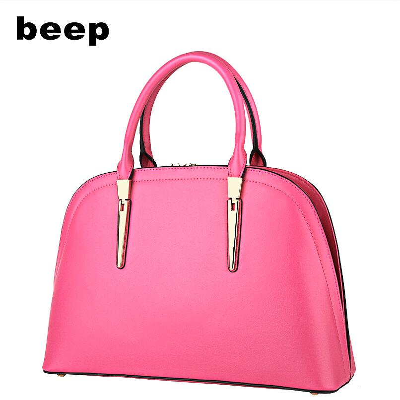 Beep Brand 2017 New Superior cowhide Leisure fashion Leather bag tote Shells bag women leather shoulder bag  women's bag beep beep go to sleep