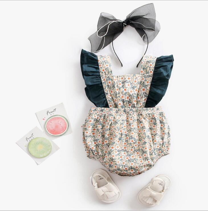 Baby Girls Clothes Summer Floral Newborn Infant Baby Rompers Princess Baby Jumpsuit Backless Toddler Sunsuit Clothes For Girls