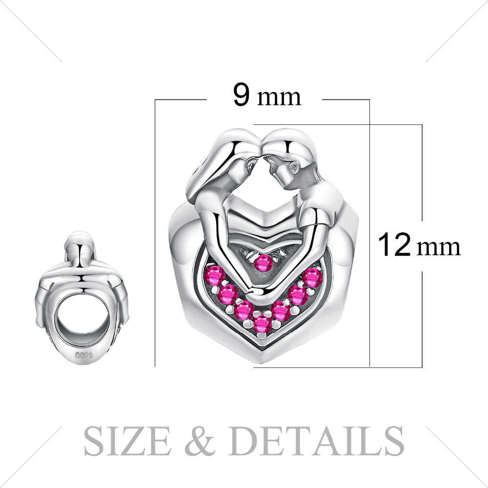 JewelryPalace ซื่อสัตย์รัก 925 เงินสเตอร์ลิงลูกปัดเงิน 925 สำหรับสร้อยข้อมือเงิน 925 เครื่องประดับทำ