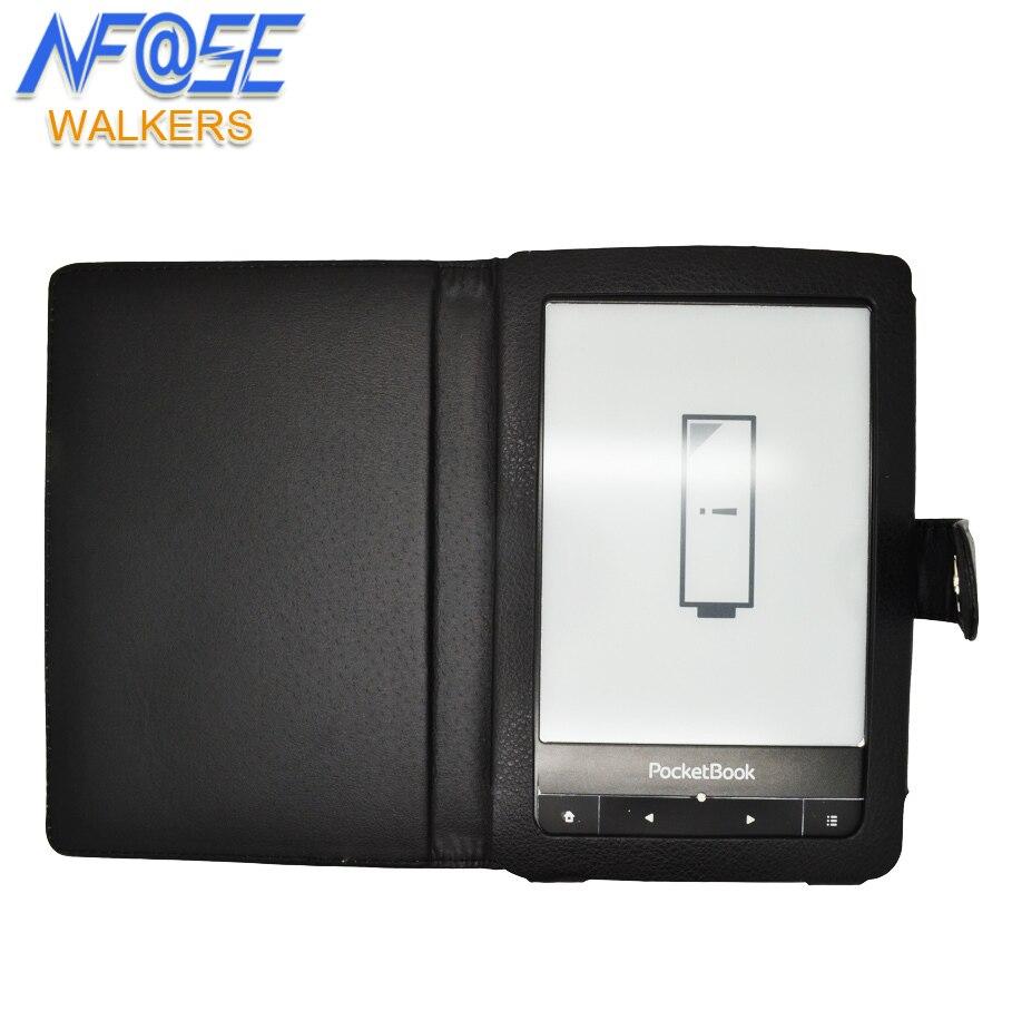 Funda protectora de cuero para pocketbook touch 622/623/624/614/640/626/ pocketbook touch lux + film + stylus