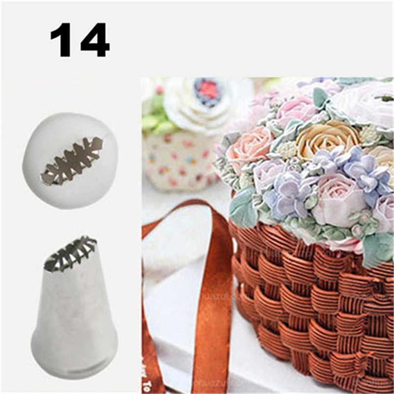 TTLIFE #14 สแตนเลสเค้กท่อ Icing ท่อหัวฉีด Pastry Tips สำหรับ Craft Craft น้ำตาล Cupcake เครื่องมือตกแต่งตะกร้าสานเคล็ดลับ