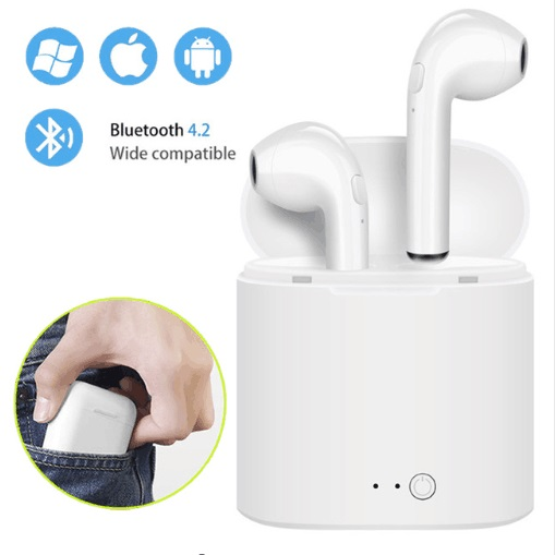 i7 i7s mini TWS Wireless Bluetooth Earphones Music Earbuds Set Stereo Headset for iphone X 8 Samsung air pods With Charging box(China)