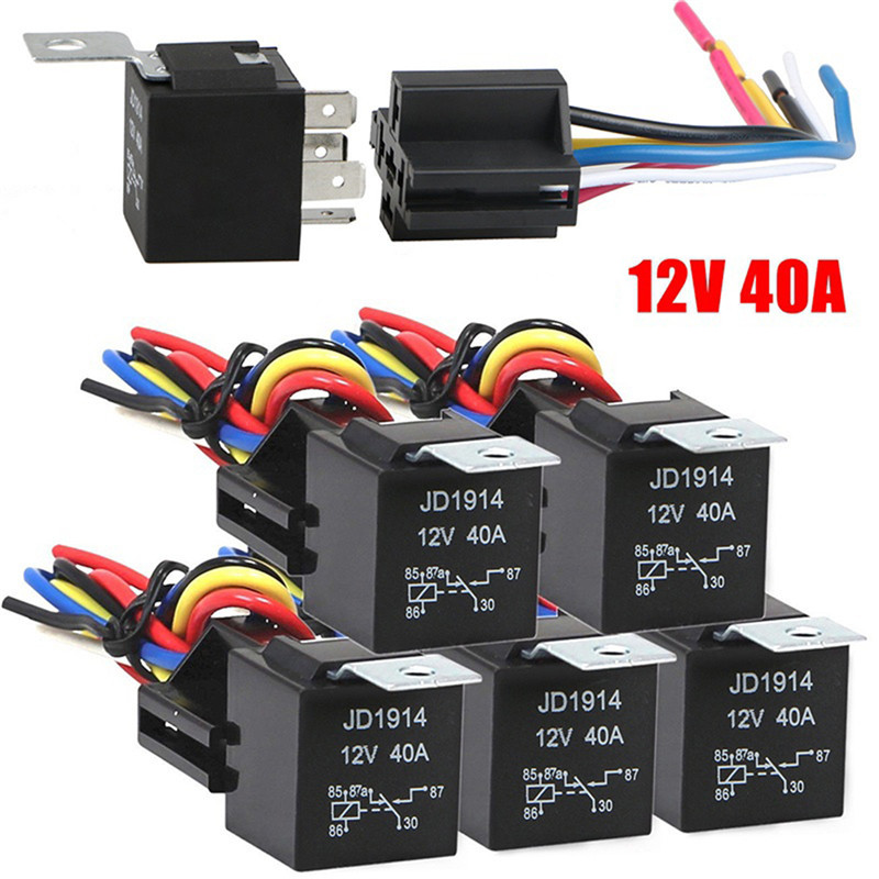1pc Waterproof Automotive Relay 12v 5pin 40a Car Relay