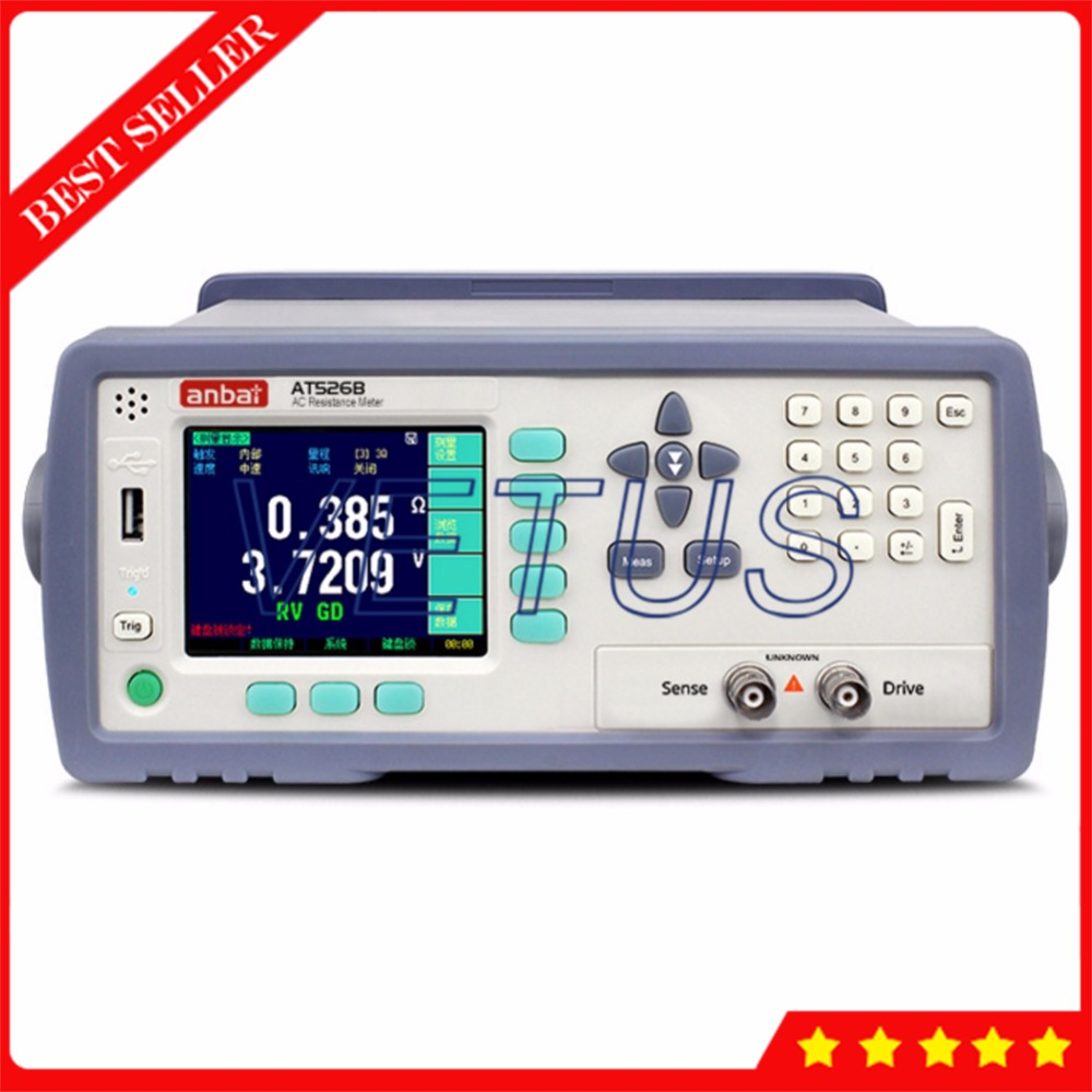 AT526B High precision battery internal resistance tester with AC Low ohm Meter digital lithium battery life detector gauge handheld ac milliohm meter at528 battery tester for laptop battery ac resistance meter and battery internal resistance tester