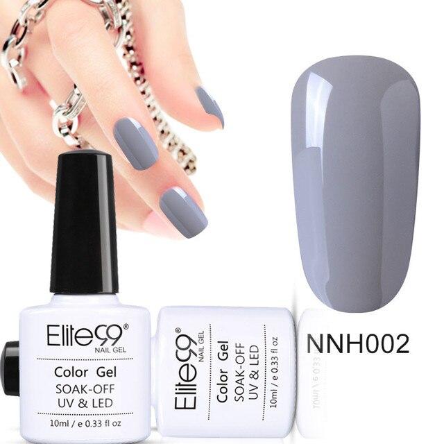 Elite99 Nagel Gel Tränken Weg UV Gel Grau Farben Gel Lak Vernis Semi Permanent Lack Nail art Gel Lacke gelpolish