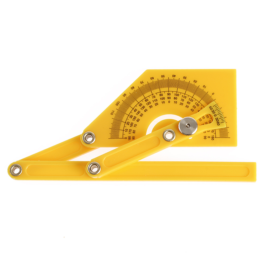 1PC New Useful Plastic Goniometer Angle Finder Miter Gauge Arm Woodworking Measuring Ruler Hand Tool