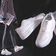купить Women White Sneakers Summer Fashion Breathable Air Mesh Lace Up Casual Shoes Ladies Soft Flat Comfort Walking Shoes по цене 412.49 рублей