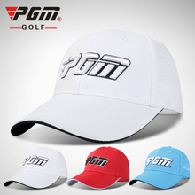 цена на PGM Unisex Golf Caps One Size Adjustable Polyester Letter Cap Summer Breathable Male Sports Cap Golf Tennis Baseball Hat