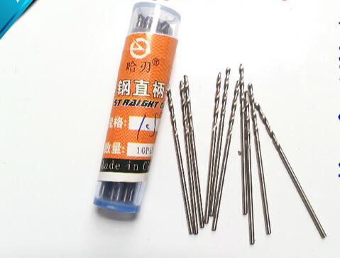 10PCS Hand HSS straight shank twist drill 1.1/1.2/1.3/1.4/1.5/1.6/1.7/1.8/1.9/2.0mm walnut vajra bodhi Pearl beads tiny