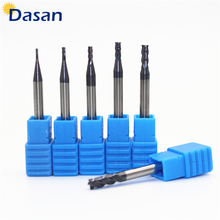 1pc End mills HRC50 4F 1mm 1.5mm 2mm 2.5mm 3mm 4mm endmills carbide end mill Tungsten Steel Milling Cutter EndMills CNC tool 1pcs hss t slot mills cutting tools 18 x 3mm end mill shank dia 10mm endmills