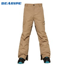 SEARIPE-30 градусов, Мужские штаны для сноуборда, мужские лыжные штаны, водонепроницаемые, 10 K, дышащие, зимние штаны, мужские брендовые лыжные брюки